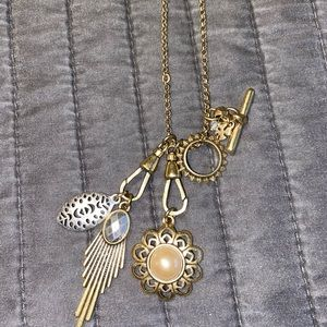Lucky Brand charm necklace